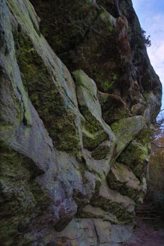 Ein Bild des Königsteins-Kletterfelsens